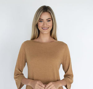 Humidity - Knit top Lianna colour Tan