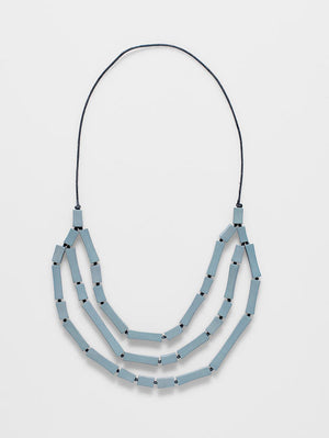 Elk Pinch bead multi necklace. Grey