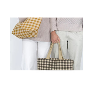 Apple Green Duck - Tote Bag Gingham Olive