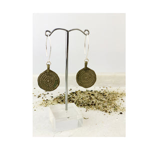 Cavarra - Earrings Coin Flower ShortCavarra - Earrings Coin Flower Short