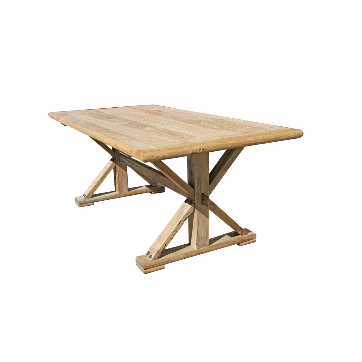 Elm dining table  2.4 x 1 m