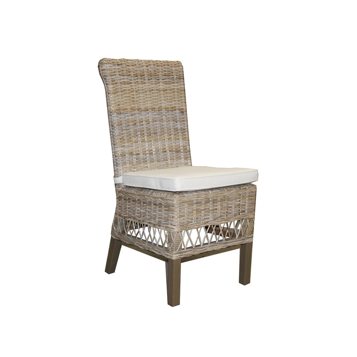 Dining Chair Rattan Kubu Grey