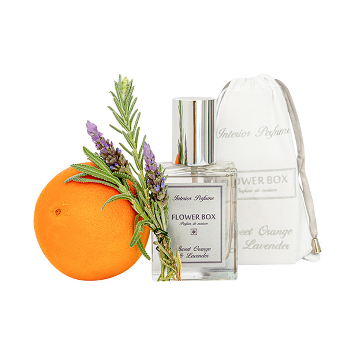 Flower Box - Interior Perfume Orange & Lavendefr