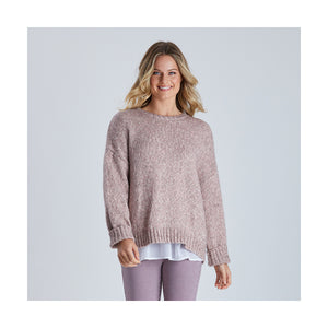 Double Pink Speckle Knit  Jumper