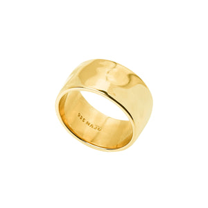 Najo - Lightly Beaten Gold ring