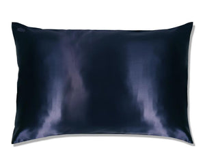 Slip Pillow Case Navy Queen