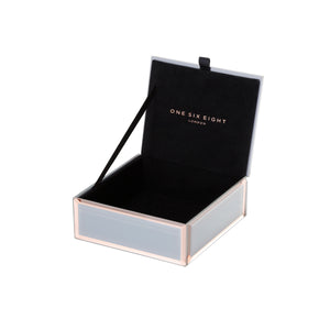 Florence small Grey/Rose Gold jewellery box