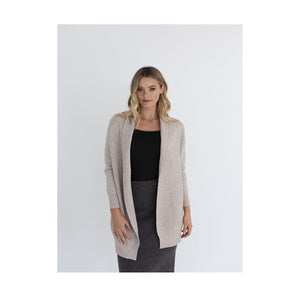 Humidity - Cardigan waffle knit - Natural