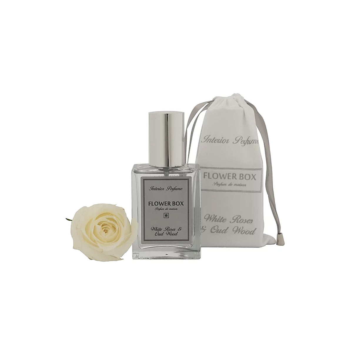 Flower Box - Interior Perfume White Rose