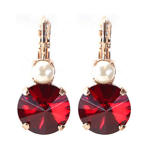 Mariana earrings red and pearl