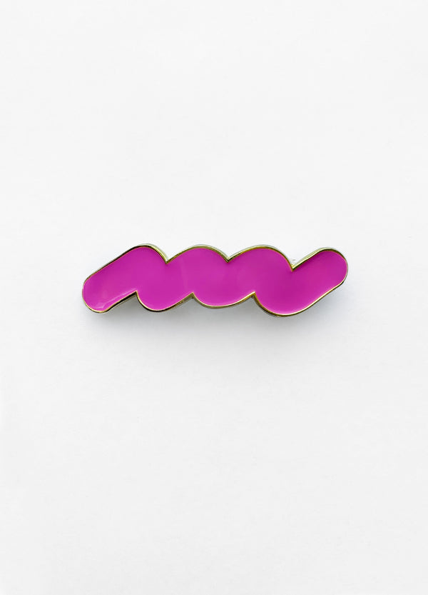 Enamel Hair Barrette – Squiggle