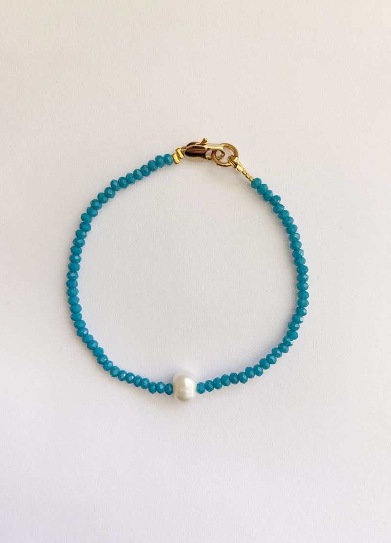 Mini Pearl Bracelet – Blue