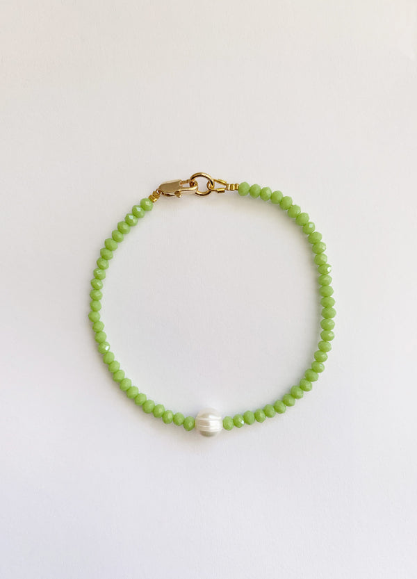 Mini Pearl Bracelet – Green