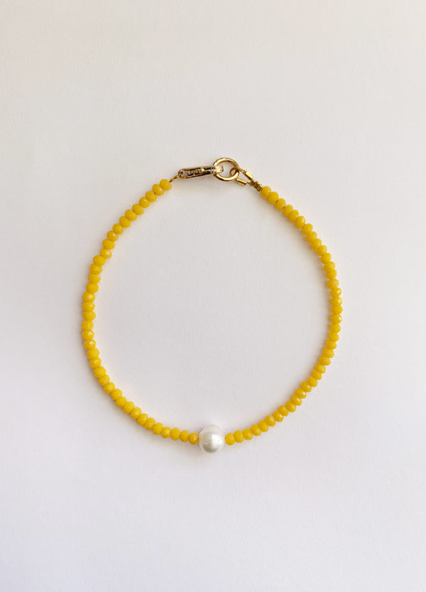Mini Pearl Bracelet – Yellow