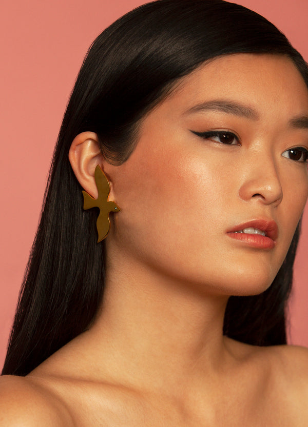Golden Dove Earrings | Georgia Perry
