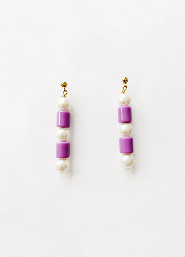 Jean Earrings – Purple