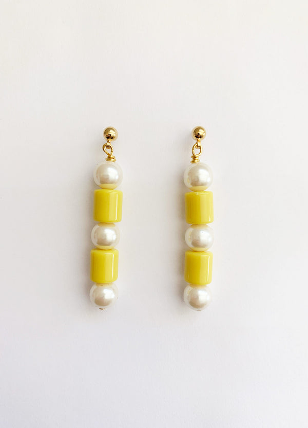 Jean Earrings – Yellow