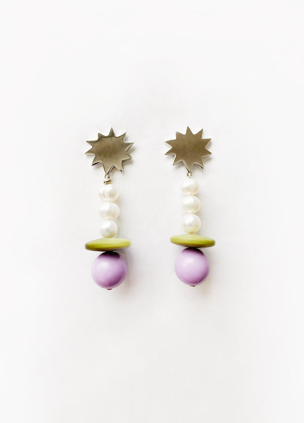 Lilac Olive Earrings