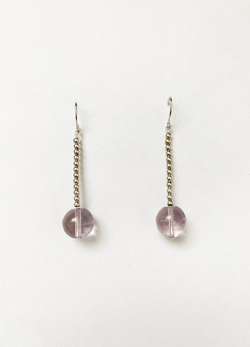 Mauve Drop Earrings