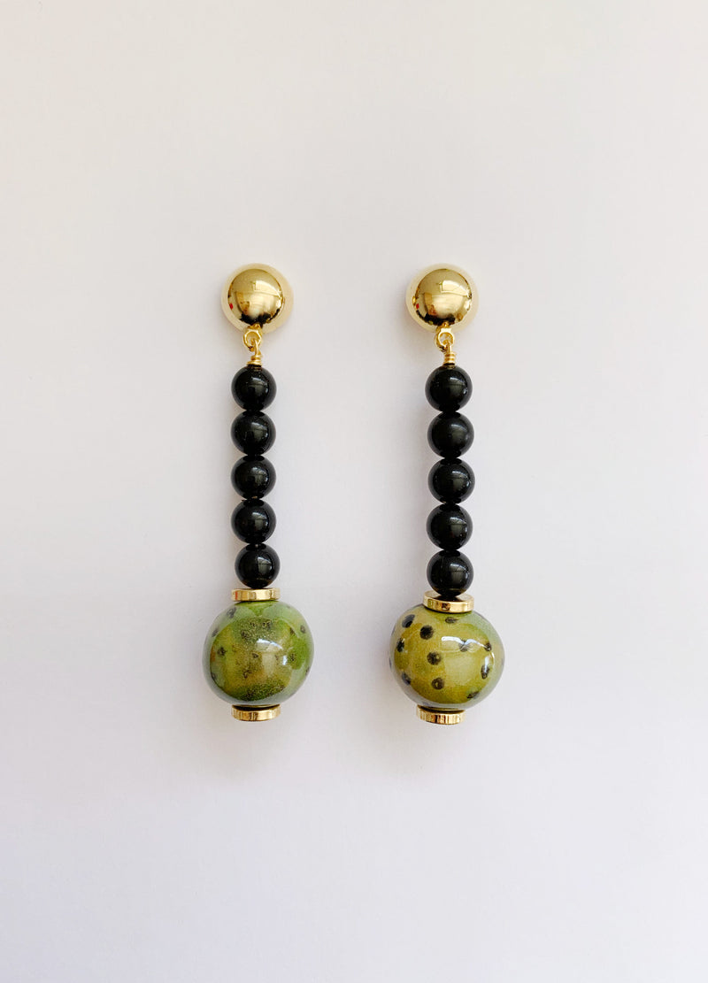 Olive Drop Earrings