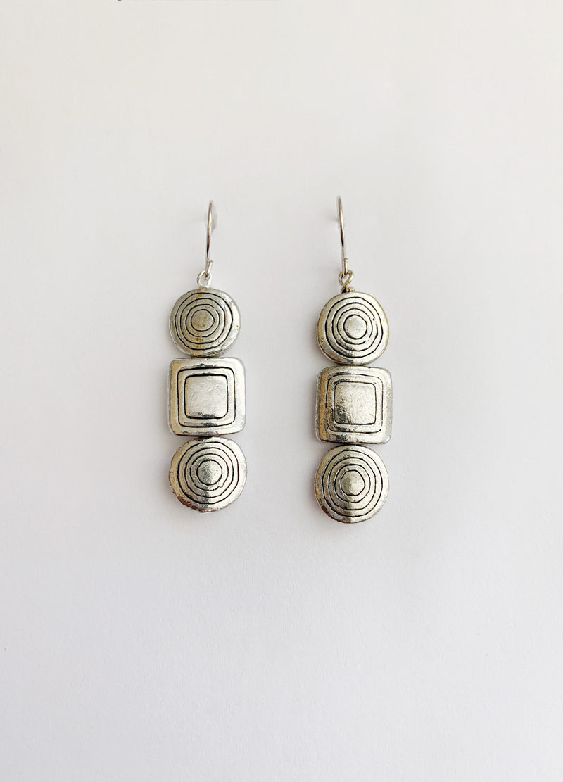 Silver Totem Earrings