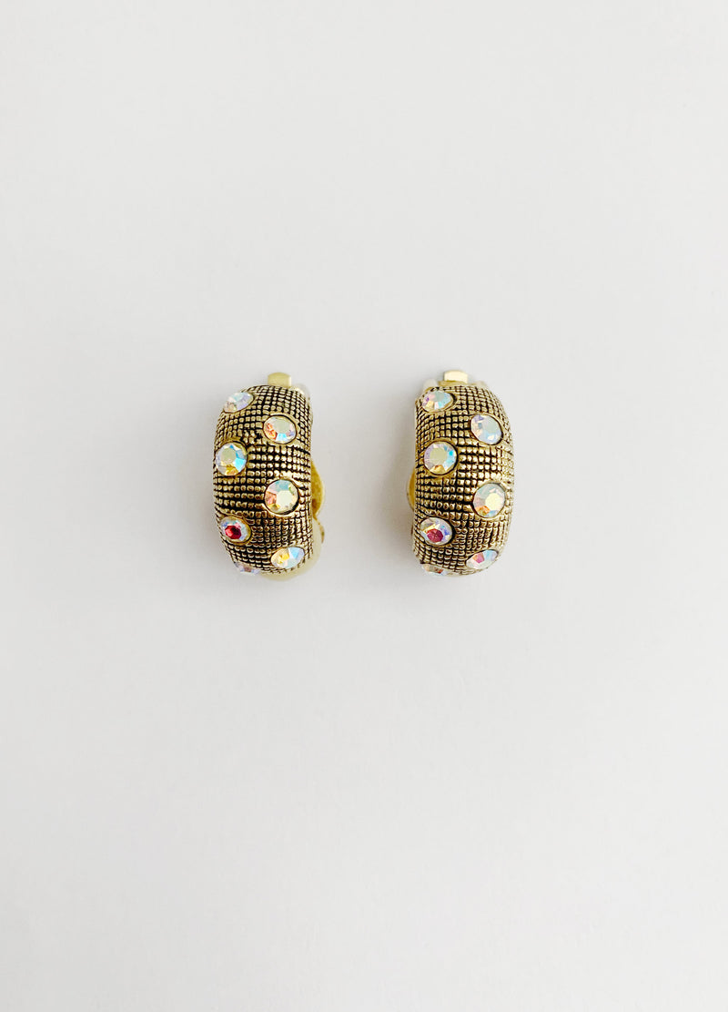 Sparkle Huggie Earrings (Vintage)