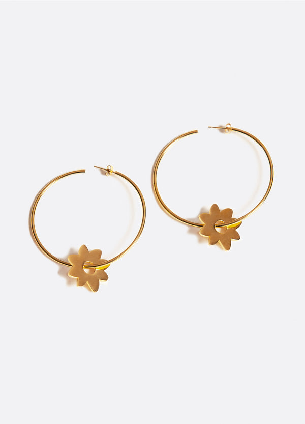 Daisy Hoop Earrings | Georgia Perry