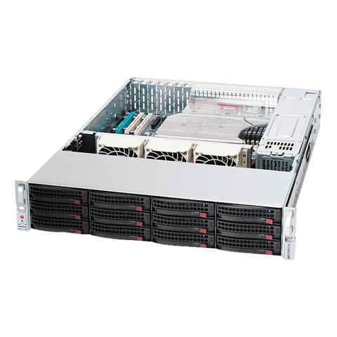 SuperMicro SuperChassis 826E16-R1200LPB 12 Bay Server