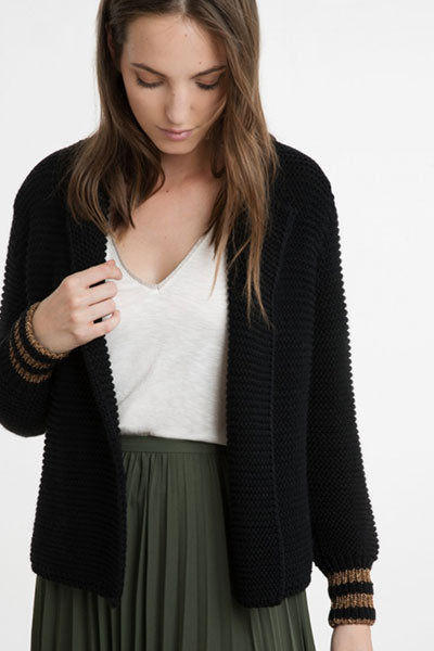 Ange Paris Cardigan court Lorena noir