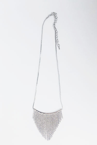 Collier triangle strass argent Amy Lou