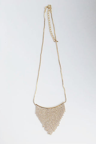 Collier triangle strass doré Amy Lou
