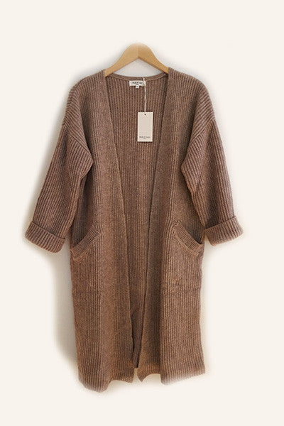 Long cardigan camel Gloria Andy & Lucy