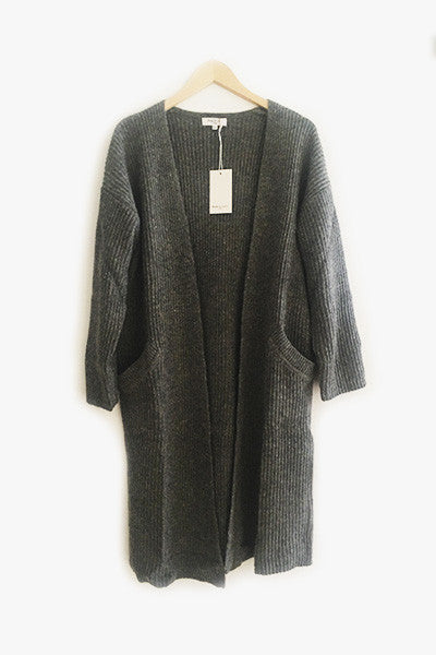 Long cardigan gris Gloria Andy & Lucy