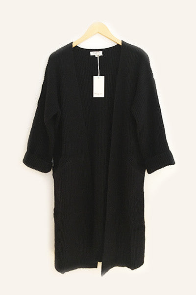 Long cardigan noir Gloria Andy & Lucy