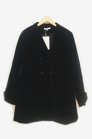 Manteau en velours noir Musso An'ge Paris