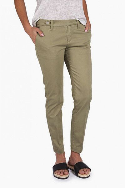 Pantalon chino Sally kaki Nvy Denim