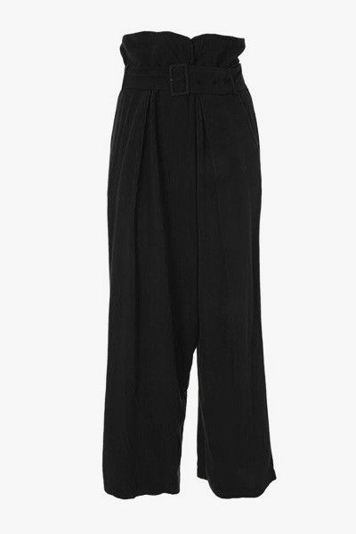 Pantalon large fluide noir Betty Orfeo Paris