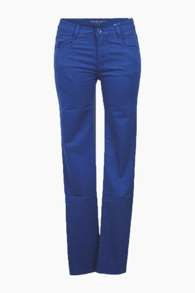 Pantalon slim bleu royal
