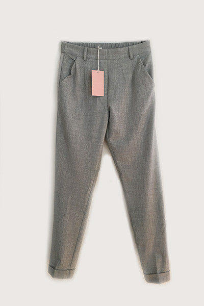 Pantalon gris clair Liverpool Grace & Mila
