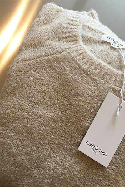 Pull en laine Petra beige Andy & Lucy
