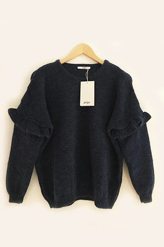 Pull Louka bleu à volants An'ge Paris
