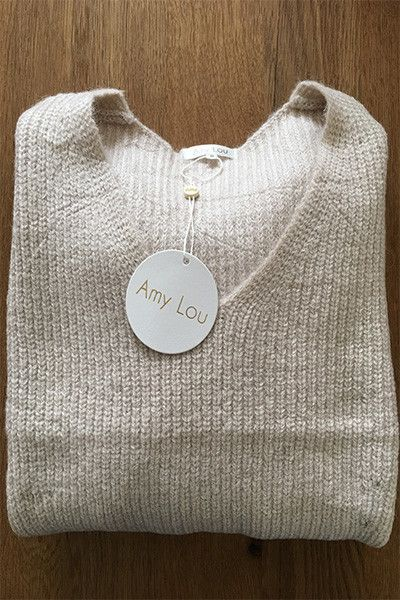 Pull beige grosse maille Amy Lou