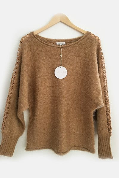 Pull camel guipure Amy Lou