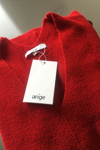 Ange Paris pull long et large LEPANAMA rouge