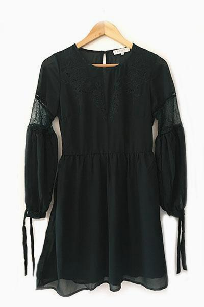 Robe courte vert foncé ESTHER Andy & Lucy