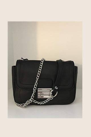 Sac cuir noir New York Cherry