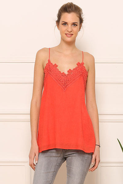 Top guipure sorbet Amy Lou