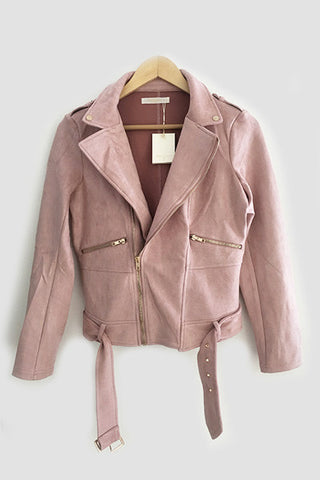 Veste effet daim rose Valeb Andy & Lucy