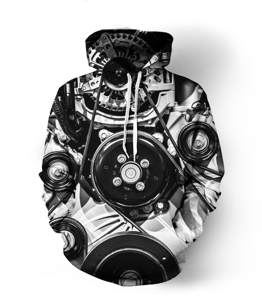 Motor Engine Abstract Hoodie