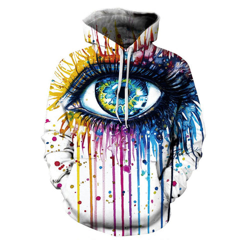 Colorful Eye Hoodies